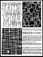 Linear Textures Stencil (L857) designed by Lucie Duclos for StencilGirl (9 inch by 12 inch)