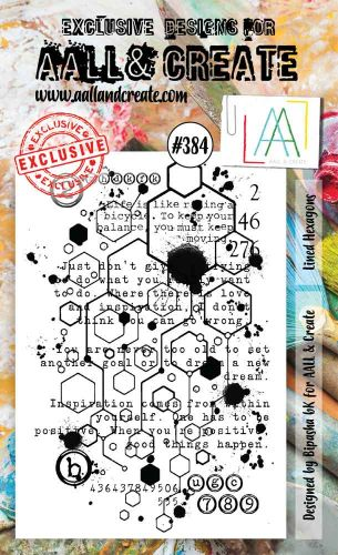 No. 384 Lined Hexagons Aall and Create A6 Stamp