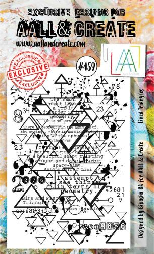 Lined Triangles No. 459 Bipasha BK Aall and Create A6 Stamp Set