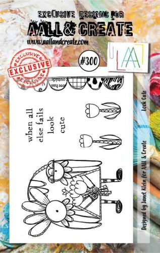 No. 300 Look Cute Aall and Create A7 Stamp