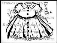 Loose Dress No. 2 Stencil (L193) designed by Sue Pelletier for StencilGirl (9 inch by 12 inch)