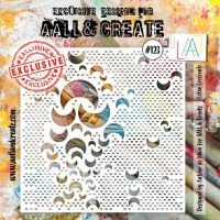 Lotza Crescentz no. 123 6 by 6 stencil by Autour de Mwa for Aall and Create (AAL10123)
