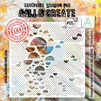 Lotza Semicirclz no. 125 6 by 6 stencil by Autour de Mwa for Aall and Create (AAL10125)