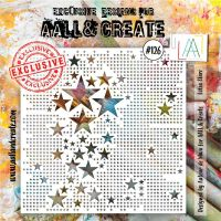 Lotza Starz no. 126 6 by 6 stencil by Autour de Mwa for Aall and Create (AAL10126)