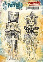 Lynne Perrella LPC042 PaperArtsy A5 Cling stamp set