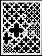 Maltese Mix Stencil designed by Michelle Ward for Stencil Girl (9 inch by 12 inch)