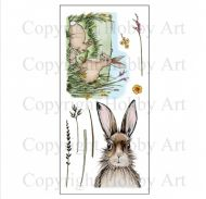 CS124D Hobby Art Stamps - March Hares