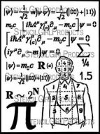 Math Man 9 inch by 12 inch Stencil (L641) by Cat Kerr for StencilGirl