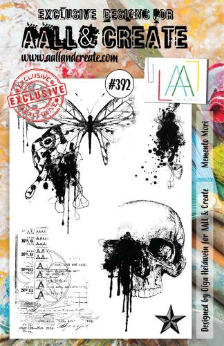 Memento Mori No. 392 Aall and Create A5 sized stamp by Olga Heldwein (AAL00392)