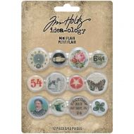 Expected approx 23 April Mini Flair Buttons 12/Pkg Tim Holtz Idea-Ology (TH94129)