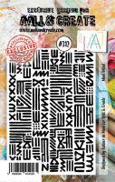 No. 312 Mini Tribal Aall and Create A7 Stamp