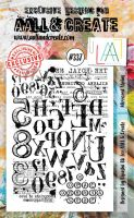 No. 337 Mirrored Alphas Aall and Create A6 Stamp