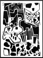 Mod City Country Abstract 9 inch by 12 inch Stencil (L708) by Cynthia Silveri for StencilGirl