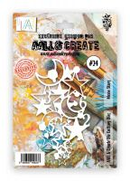 PRE-ORDER EXPECTED DESPATCH 16 APRIL - Moon Stars no. 24 cutting die by Bipasha BK for Aall and Create