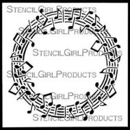 Musical Roundabout 6 inch by 6 inch Stencil (S608) by Sandee Setliff for StencilGirl