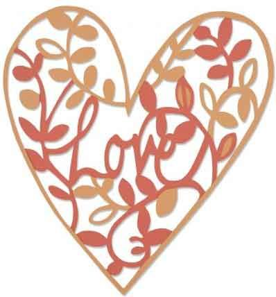Natural Love - Sizzix Thinlets Die - Emily Atherton - 661377