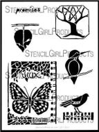 Nature's Promises Stencil (L291) designed by Roxanne Evans Stout for StencilGirl (12 inch by 12 inch)