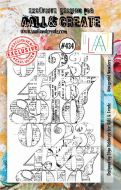 Newsprint Numbers No. 434 Aall and Create A7 sized stamp by Olga Heldwein (AAL00434)