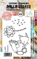No. 317 No Rain No Flowers Aall and Create A7 Stamp