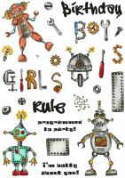 Nuts and Botz A5 Hobby Art Stamp Set (CS268D)