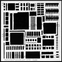 Open Buildings Stencil designed by Carolyn Dube for Stencil Girl (6 inch by 6 inch)