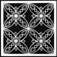 Ornamental Petals Screen designed by Gwen Lafleur for Stencil Girl (6 inch by 6 inch)