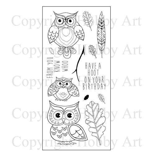 Ornate Owls Hobby Art Clear Stamp Set (CS115D)