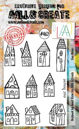 Our House No. 462 Janet Klein Aall and Create A6 Stamp Set