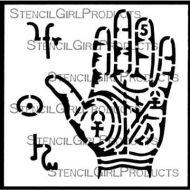 Palmistry Hand Stencil (M319) by Gwen Lafleur for StencilGirl