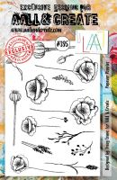Papaver Poppies (No. 395) A5 sized stamp by Tracy Evans for Aall and Create (AAL00395)