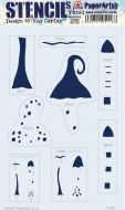 Kay Carley Large PaperArtsy Stencil (PS182)