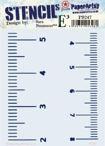 Sara Naumann Eclectica (PS247) Regular PaperArtsy Stencil