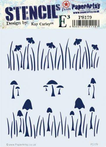 Kay Carley PaperArtsy Stencil (PS179)