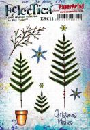 PaperArtsy Kay Carley EKC11 A5 Cling Rubber Stamp Set