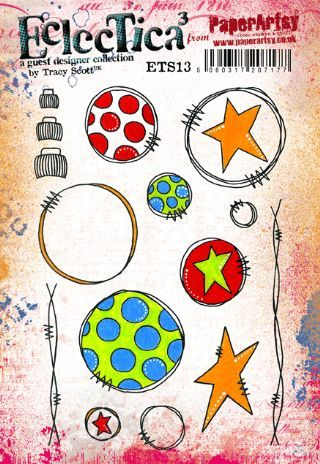 Tracy Scott ETS13 PaperArtsy Cling Rubber Stamp Set
