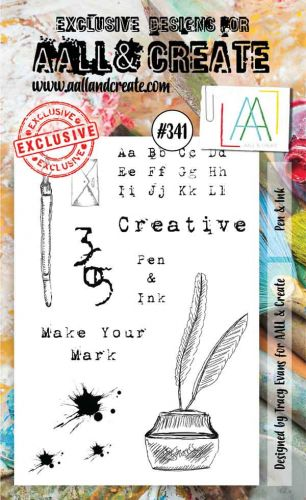 No. 341 Pen and Ink Aall and Create A6 Stamp