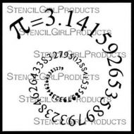 Pi 6 inch by 6 inch Stencil (S613) by Cat Kerr for StencilGirl