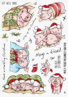 Pigs in Blankets Hobby Art Stamp Set (CS212D)
