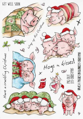 Pigs in Blankets Hobby Art Stamp Set (CS212D)