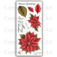 Poinsettia Hobby Art Clear Stamp Set CS141D