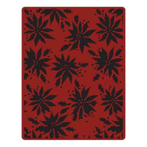 Poinsettias - Tim Holtz - Sizzix Texture Fades Embossing Folder- 662433