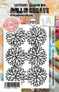 No. 309 Pom Pom Flowers Aall and Create A7 Stamp