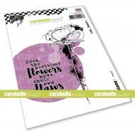 Poppy Cling Stamp A6 by Ana Bondu for Carabelle Studio (SA60544E)