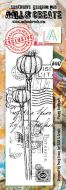 Poppy Seedhead (No. 447) border sized stamp by Tracy Evans for Aall and Create (AAL00447)