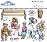Puppy Love a6 clear stamp set from Card Hut