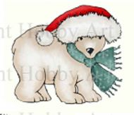 Purdy the Polar Bear Stamp Hobby Art