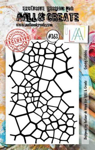 No. 363 Qwirky Cobbles Aall and Create A7 Stamp