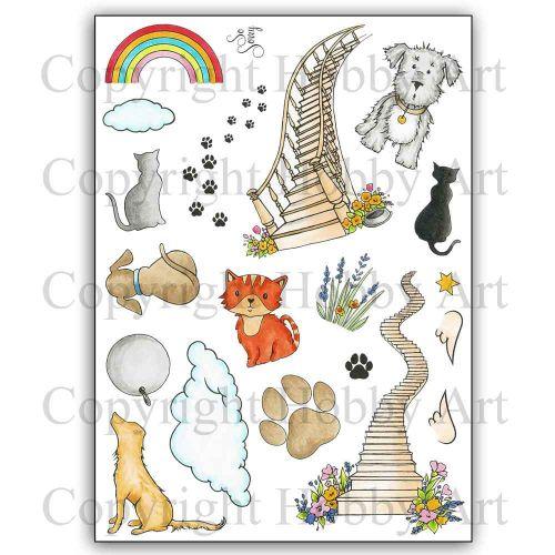 Rainbow Bridge A5 Clear Stamp Stamp Set by Hobby Art (CS300D)
