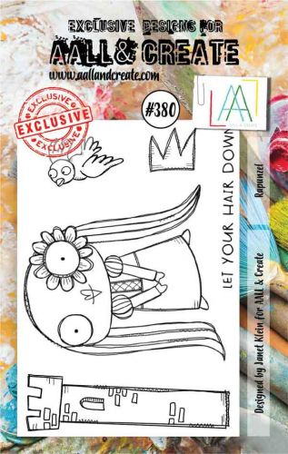 Rapunzel Aall and Create A7 Stamp Janet Klein 380 (AAL00380)