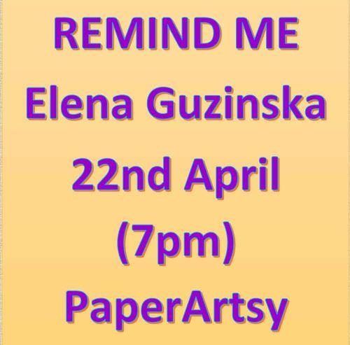 Remind me - 22nd April Elena Guzinska - New Release
